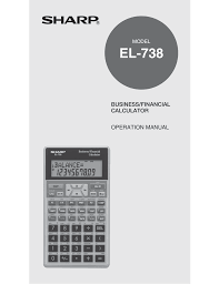 download free pdf for sharp el 738 calculator manual