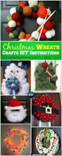 diy christmas wreath craft ideas holiday decoration instructions