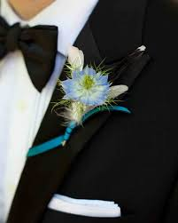 blue boutonniere 48 boutonnieres you both will martha stewart weddings