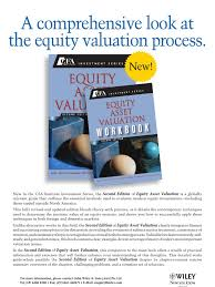 cfa flyer valuation finance financial economics