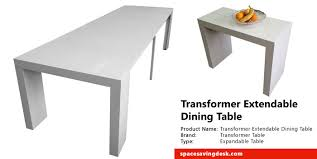 expandable tables transformer extendable dining table review space saving desk space