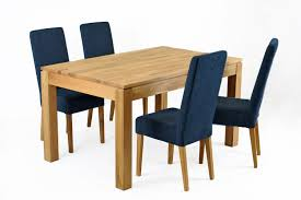 Blue Dining Chairs Jack Fabric Dining Chair Oak Legs Navy Blue Funique Co Uk
