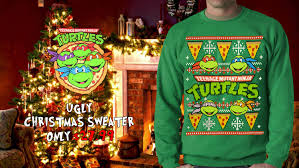 official mutant turtles sweater