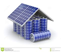 solar home battery concept stock illustration image 53794144