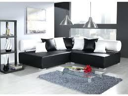 canap d angle simili cuir noir canape d angle blanc et noir canapac dangle noir et blanc marabella
