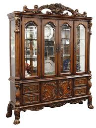 dining room set with china cabinet amazon com acme 12155 dresden hutch and buffet cherry oak