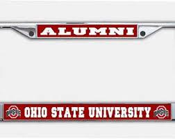 ohio alumni license plate frame ohio alumni etsy