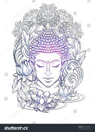 buddha head elegant vector illustration symbol stock vector
