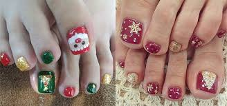 15 christmas toe nail art designs ideas u0026 stickers 2015 xmas