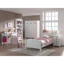 vipack amori single bed with 3 doors wardrobes desk