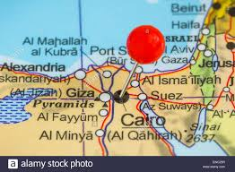 Beirut On Map Close Up Of Cairo On Map Egypt Stock Photo Royalty Free Image