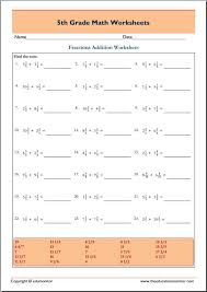 free printable grade 5 math worksheets archives edumonitor