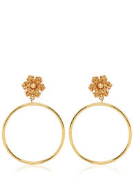 clip on hoop earrings dolce gabbana flower clip on hoop earrings gold wk9pmda1 women