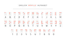 Alphabet Blind Hebrew Alphabet Braille The Font For Blind People Vector