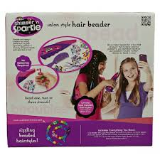 hair beader set cra z shimmer n sparkle salon style hair beader 17012