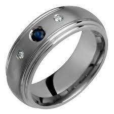 mens comfort fit wedding bands men diamonds n sapphire w titanium ring comfort fit wedding band