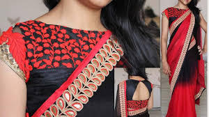 net blouse pattern 2015 boat neck blouse designs collections youtube