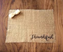 thankful placemats rustic burlap table decor burlap placemats farmhouse