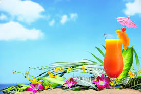 Summer Flowers by Beach Summer Flowers Beach Drink Tropical Paradise Cocktail