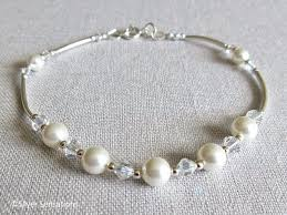 silver pearls bracelet images Nina white swarovski pearls crystals sterling silver curve png