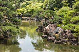 Zen Water Garden River Flowing Through Japanese Zen Garden Stock Photo Picture And