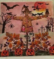 halloween themes johanna basford october calendar picture secret garden scarecrow