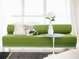 Small Space Sleeper Sofa Furniture Small Space Sleeper Sofa With Green Color And Combined