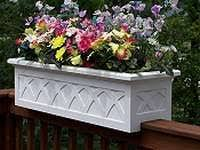 planter boxes for decks dp 36 wood deck rail planter on