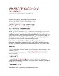 janitorial service agreement by hgh19249 sample janitorial