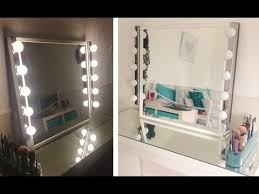 How To Make A Makeup Vanity Mirror My Diy Hollywood Inspired Vanity Mirror Youtube