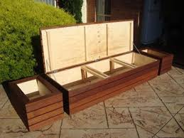 Garden Bench With Storage Gallery For Diy Outdoor Storage Bench Build It Pinterest
