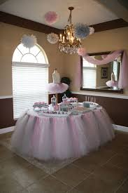 how to use tulle to decorate a table we would love to use tulle like this around the food and maybe gift