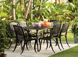 Metal Patio Dining Sets - metal patio dining tables nantucket round metal outdoor dining