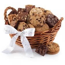 cookie basket mrs fields sympathy cookie brownie baskets
