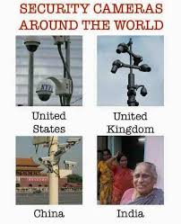 Funny Pictures Meme - security cameras around the world vs india spy cameras