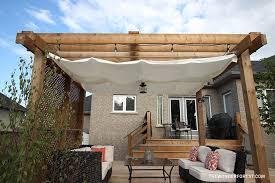 How To Build A Simple Pergola by Diy Retractable Pergola Canopy Tutorial Wonder Forest