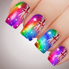 Dominican Republic Flag Tattoo Rainbow Aussie Flag Australia Day Nail Art Decal Water Transfer
