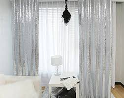 Glitter Window Curtains Sequins Curtains Etsy