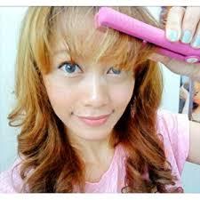 Catokan Rambut Sosis cara curli rambut dengan menggunakan catok mini flat hair iron