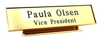 Office Desk Name Plate Name Plate For Desk Shippies Co