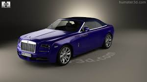 rolls royce dawn blue 360 view of rolls royce dawn 2017 3d model hum3d store