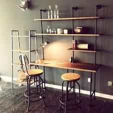 Shelf Computer Desk Pipe Computer Desk Stunning Reclaimed Wood With Side Shelves Desk