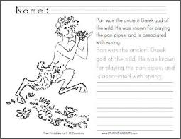 coloring pages of greek gods