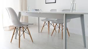 Grey Extendable Dining Table Aver Grey U0026 White Extending Dining Table And Eames Chairs