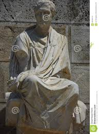 statue of ancient greek playwright demeter stock photo image