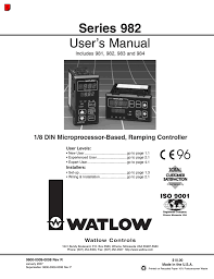 watlow series 982 user manual 141 pages also for series 981