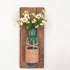 Vase Wall Sconce Rustic Wall Vase Wall Sconce Wall Flower Vase By Hadleyandruth