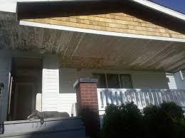 1914 foursquare porch ceiling restoration
