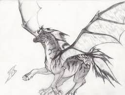 drawn paper dragon pencil and in color drawn paper dragon