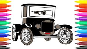 how to coloring cars 3 lizzie coloring pages for kids how to paint
